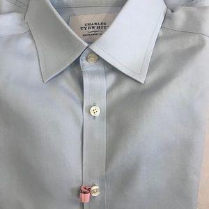 CHARLES TYRWHITT👔Classic Collar none iron